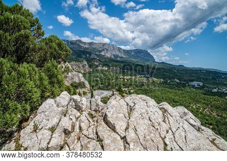 Mountain Landscape Of The Southern Coast Of Crimea In Summer