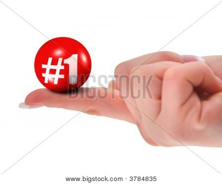 Number One Sign On Finger