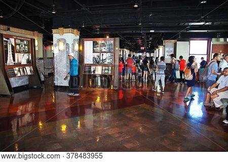 New York / United States - 30 Jun 2017: Empire State Building In New York, United States