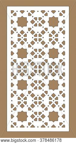 Arabesque Vector Panel. Laser Cutting. Template For Interior Partition In Arabic Style. Arabesque Cn