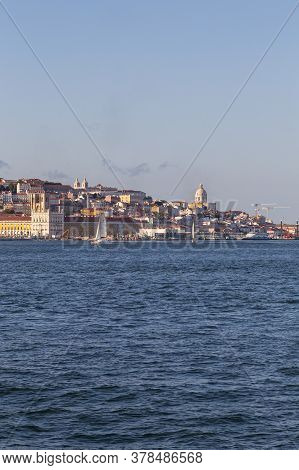 View Of The Historic Waterfront Of Lisbon From The Tejo River