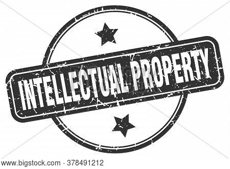 Intellectual Property Grunge Stamp. Intellectual Property Round Vintage Stamp