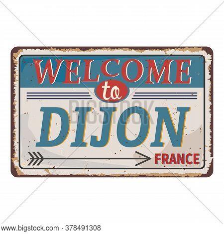 Dijon France City Road Sign - Signage Board