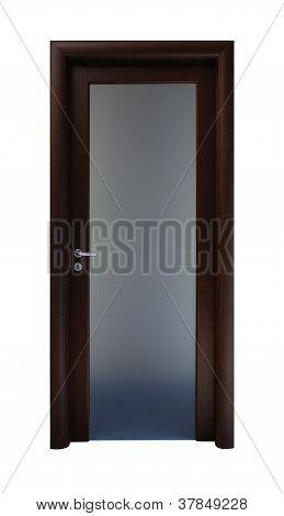 Wooden Door With A Metallic Detail