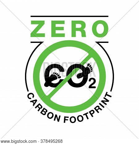 Co2 Neutral Zero Carbon Footprint Stamp - Carbon Emissions Free (no Air Atmosphere Pollution) - Sign
