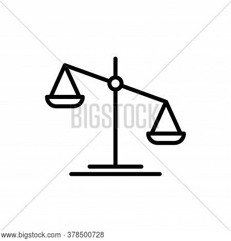 Illustration Vector Graphic Of Scale Icon Template