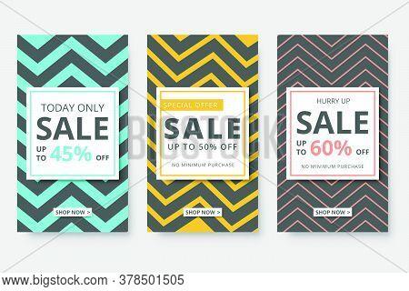Modern Promotion Social Media Story Banner For Mobile Apps. Elegant Sale And Discount Promo Backgrou