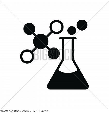 Black Solid Icon For Chemistry Atomic Chemical Formula Pathology Laboratory Pharmaceutical Test-tube