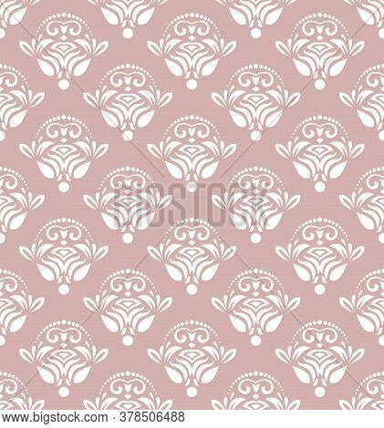 Classic Seamless Purple And White Pattern. Damask Orient Ornament. Classic Vintage Background. Orien