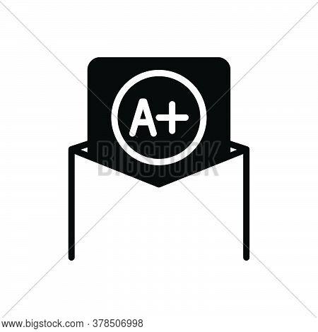 Black Solid Icon For Best-grade Best Grade Result Good Handwriting Achievement Grading Education Qua
