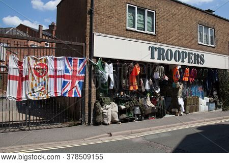 Troopers, An Army Surplus Store In Banbury In The Uk, Taken 26th June 2020
