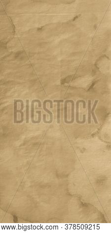 Ripped Parchment. Beige Kilim Canvas. Grunge Craft Watercolor Textile. Beige Ivory. Rough Dyed Texti
