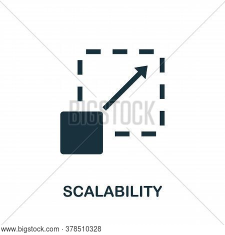 Scalability Icon. Simple Element From Community Management Collection. Filled Scalability Icon For T