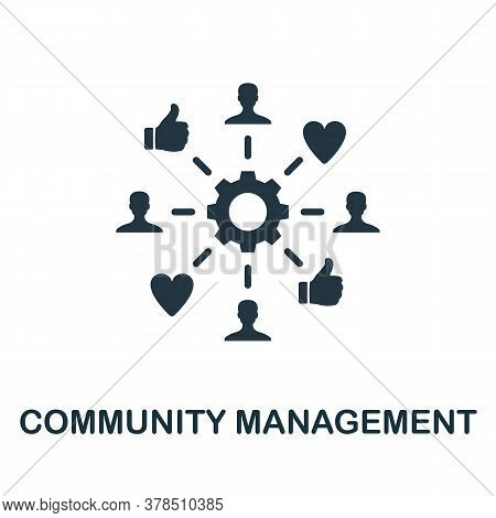 Community Management Icon. Simple Creative Element. Filled Community Management Icon For Templates,