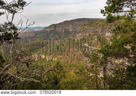 The Elbe Sandstone Mountains Are A Sandstone Massif On The Upper Reaches Of The Elbe River In German