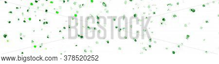 Green Leaves On White Background. Summer Or Spring Fruit Leaves. Ocean Sea Underwater Plants.  Hand