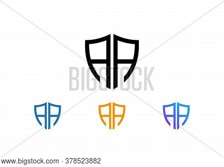 Letter Aa Logo Design, Creative Modern Trendy With Shield, Aa Shield Logo, Aa Logo Design