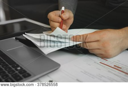 Businessman Working With Papers. Signing The Contract.