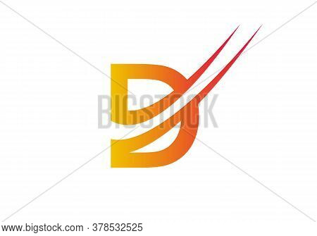Letter D Logo With Modern Typography Vector Template. Creative Abstract Letter D Logo Vector. D Logo