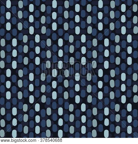 Seamless Indigo Blue Woven Linen Texture Pattern. Denim Worn Out Weave Style Background. Decorative