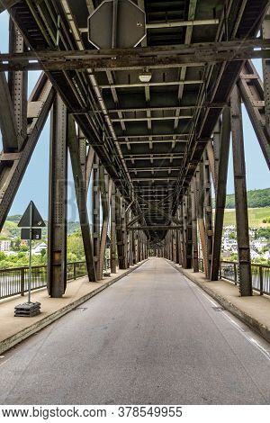 Old Iron Bridge Spans River Moselle, Bridge Is Called Cannon Bridge And Serves Sicne The 17th Centur