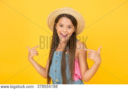 Fashionably Dressed Girl. Enjoying Vacation. Good Vibes. Beach Style. Beauty In Hat. Portrait Of Hap