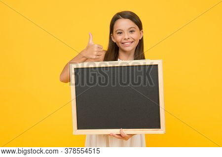 Good Choice. Chalkboard For Information. Blank Blackboard. Something You Need To Know. Happy Smiling