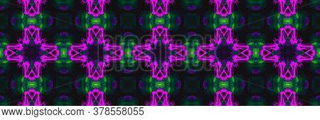 Arabic Tile Pattern. Fine Mosaic Flower Cyberpunk Textile. Arabic Tile Background. Lilac Sicily Faie
