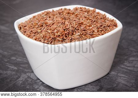 Flaxseed As Source Natural Vitamins, Minerals, Dietary Fiber And Acids Omega