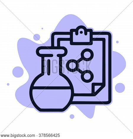 Chemical Flask Formula Icon. Outline Chemical Flask Formula Vector Icon For Web Design Isolated On W