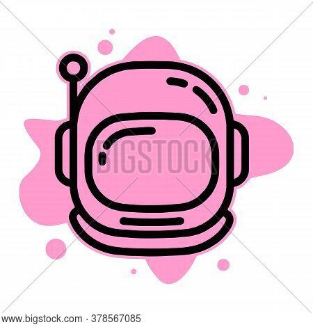 Astronaut Helmet Icon. Outline Astronaut Helmet Vector Icon For Web Design Isolated On White Backgro