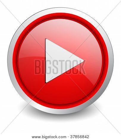 Video red button - design web icon