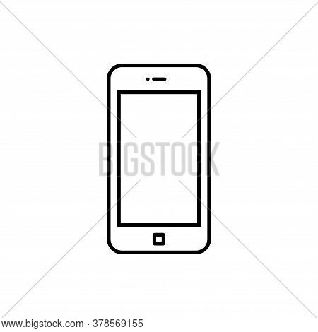 Phone Line Icon Vector. Call Icon Vector. Mobile Phone Smartphone Device Gadget. Telephone Outline I