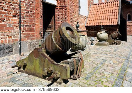 Malbork, July 15: Old Cannons At Teutonic Order Castle On July 15, 2020 At Malbork Poland. It Is The