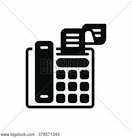 Black Solid Icon For Fax-message Telecommunications Message Technologies Telefax Communication Fax B