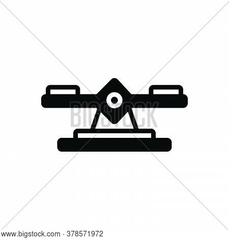 Black Solid Icon For Balance Integrity Scale Judgment Weight Equality Measure Equilibrium