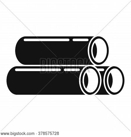 Steel Contruction Pipes Icon. Simple Illustration Of Steel Contruction Pipes Vector Icon For Web Des
