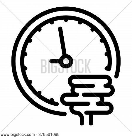 Digestion Time Icon. Outline Digestion Time Vector Icon For Web Design Isolated On White Background