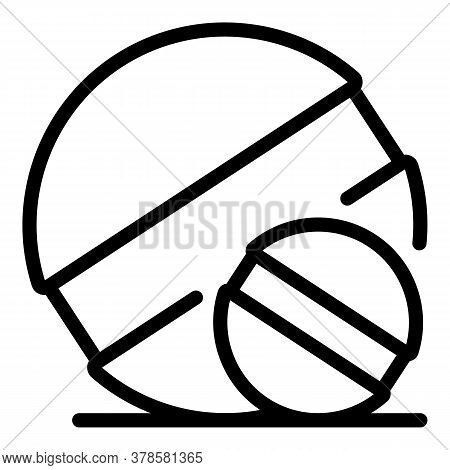 Digestion Round Pill Icon. Outline Digestion Round Pill Vector Icon For Web Design Isolated On White