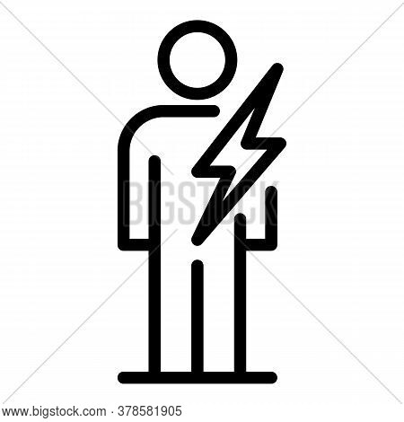 Fast Man Digestion Icon. Outline Fast Man Digestion Vector Icon For Web Design Isolated On White Bac