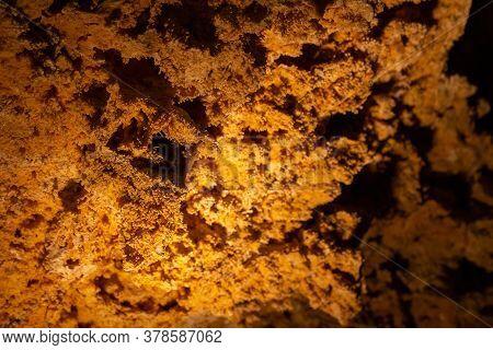 Old Cave Stone Decoration. Unique Underground Cave Turold, Palava, Czech Republic