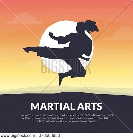Martial Arts Banner Template, Karate, Judo, Taekwondo, Aikido School Design, Asian Martial Art Fight