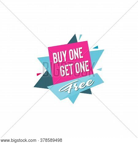 Buy One Get One Free Promotional Sale, Illustration. Eps8.