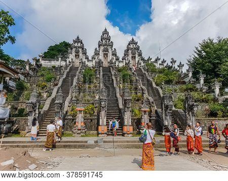Bali, Indonesia - September 18: View On The Pura Lempuyang Luhur Temple At September 18, 2018 In Bal