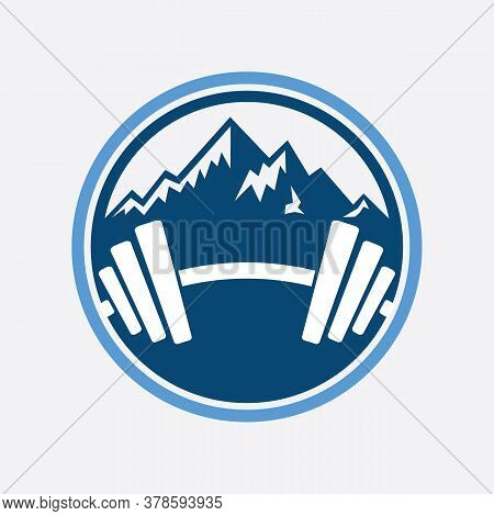 Minimalist Landscape Hills / Mountain Peaks River Creek Vector Logo Design