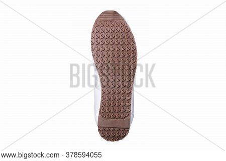 Sole Shoes With Geometric Pattern. Grooved Outsole