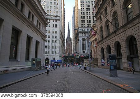 New York / United States - 02 Jul 2017: Wall Street, New York, United States