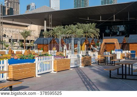 Doha, Qatar - Nov 21. 2019. Game Complex On Exhibition Of Miniature Copies Of World Landmarks