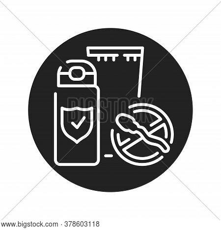 Spermicide Tube Black Glyph Icon. Women Contraceptive. Birth Control. Safety Sex Sign. Pictogram For