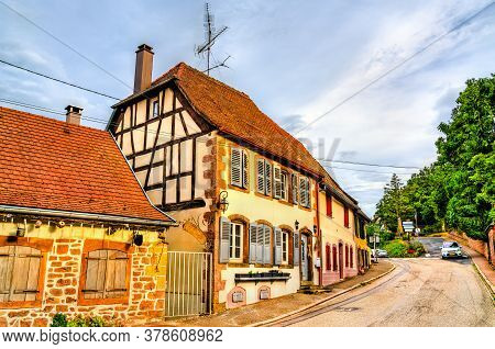 Traditional Houses In La Petite-pierre Town - Alsace, Bas-rhin, France